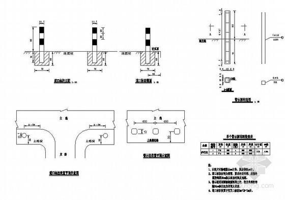 警示桩、道口标柱结构节点详图设计