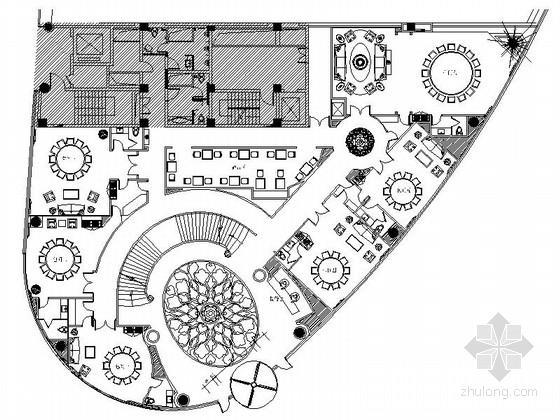 [南京]高档奢华休闲会所装修设计施工图(含效果及全套方案)