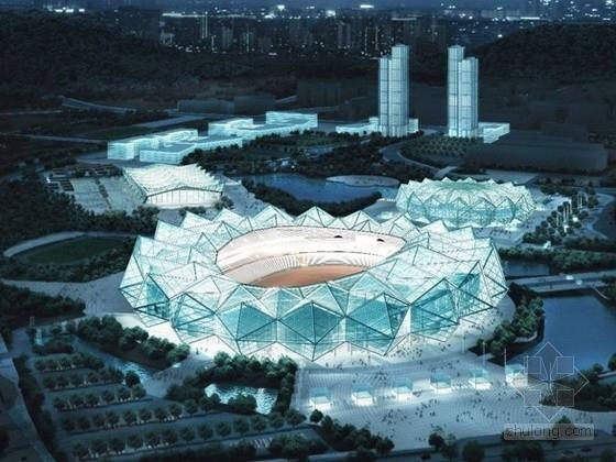 [广东]大型体育中心规划及单体设计方案文本(含ppt)