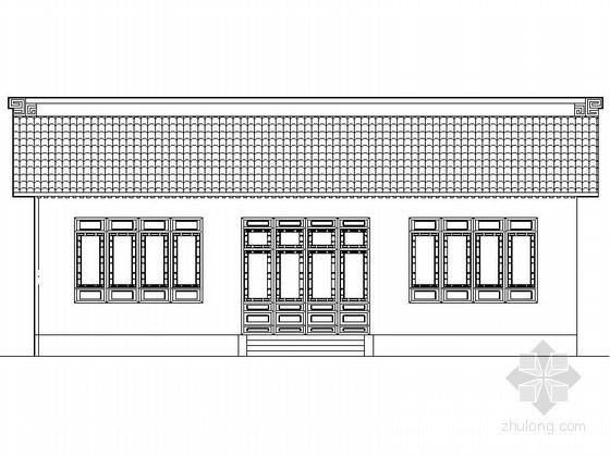 某一进庙宇建筑施工图(含效果图)