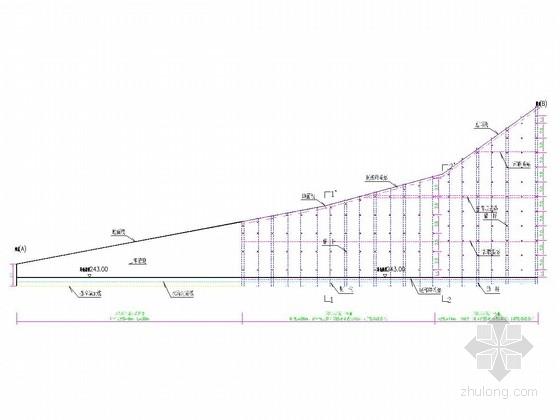 锚杆挡土墙及重力式挡图墙边坡防护施工图