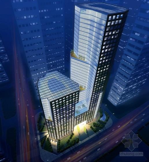 [天津]39层商业综合体建筑设计方案文本(国内知名建筑设计师设计)