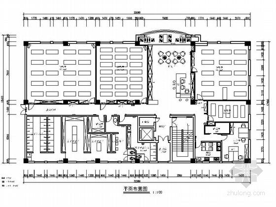 [宁波]某中式风格瑜伽会所室内装修施工图(含效果)