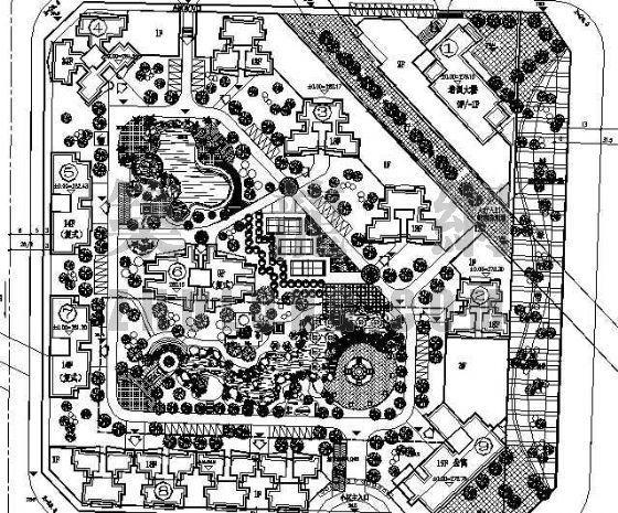小区规划绿化总平面图