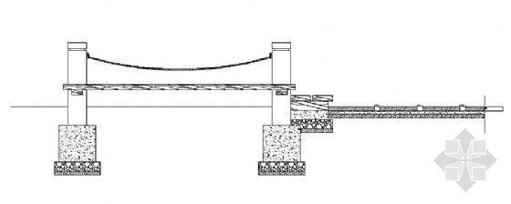 木平台与青石板园路接点剖面图