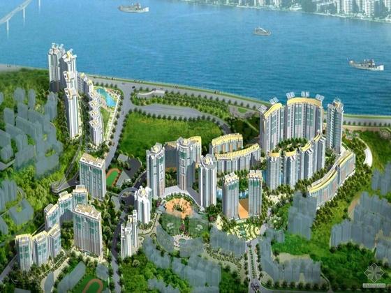[重庆]某沿江布局现代住宅小区规划文本(含效果图)