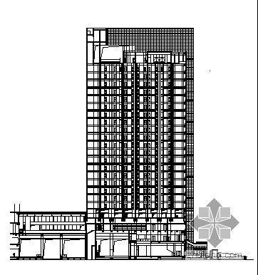 十九层越洋广场大厦幕墙建筑施工图