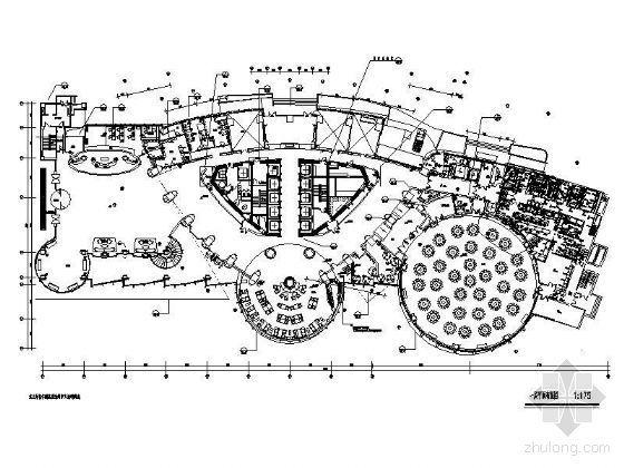 花园酒店一层平面设计图