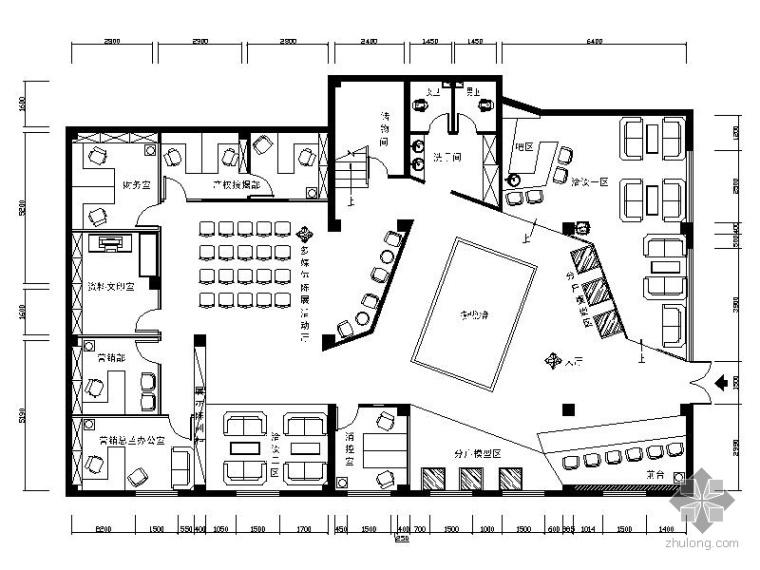 某售楼处办公楼室内装修施工图