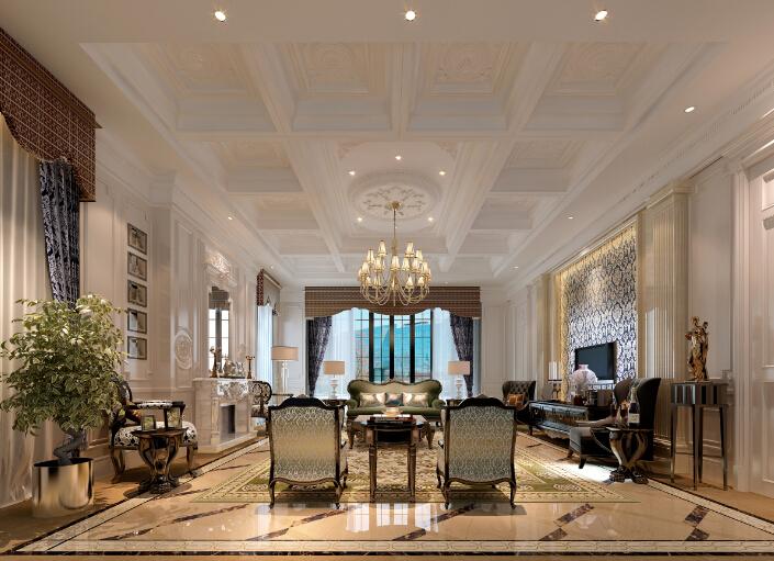 [吉林]经典豪华法式样板房室内设计施工图(含设计方案)_10