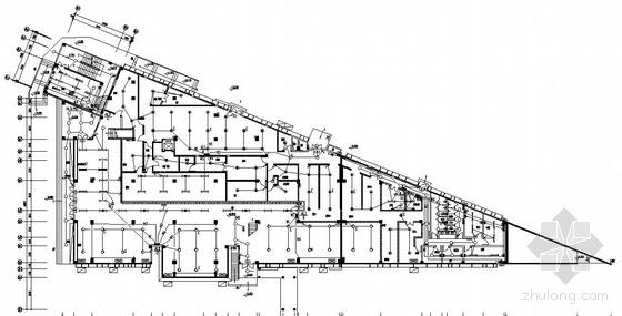 某中学二层食堂电气图纸-2