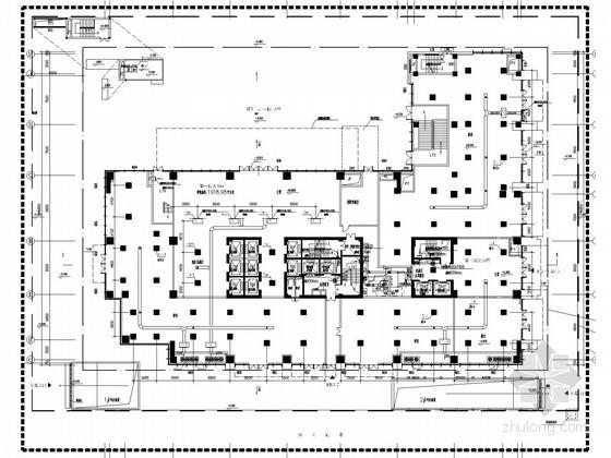 [广东]高层科技办公楼空调通风及防排烟系统设计施工图(多联机系统)