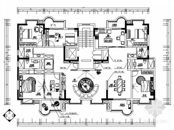 [新沂]现代高档中式联体别墅装修图