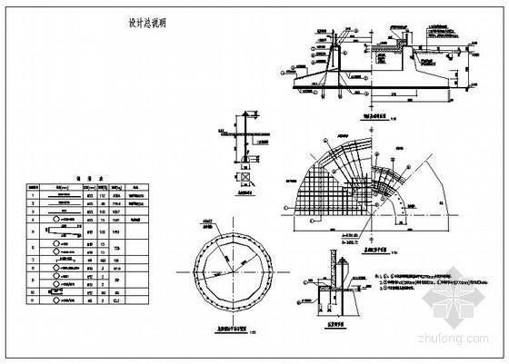 某烟囱基础节点构造详图