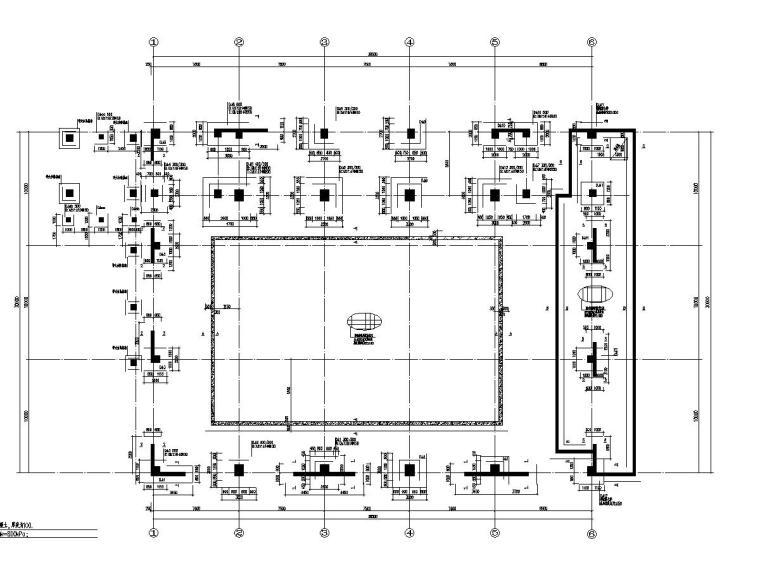 [山东]地上三层框架结构游泳馆结构施工图