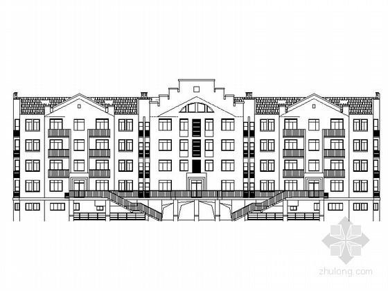 [无锡]某居民区五层沿街综合楼建筑施工图(南梯)