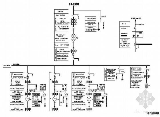 某小水电站电气主接线图