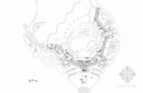 [广州]自然生态居住区景观方案规划-二层平面图
