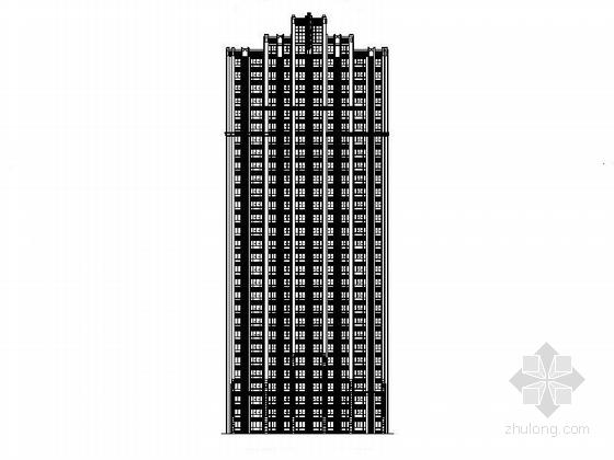 [安徽]高层剪力墙一梯两户塔式住宅楼建筑施工图(含多套方案及人防)