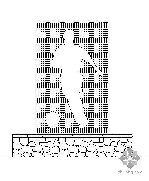 足球网球入口标志大样图