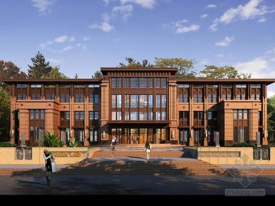 [江苏]4层artdeco风格售楼处建筑设计方案文本