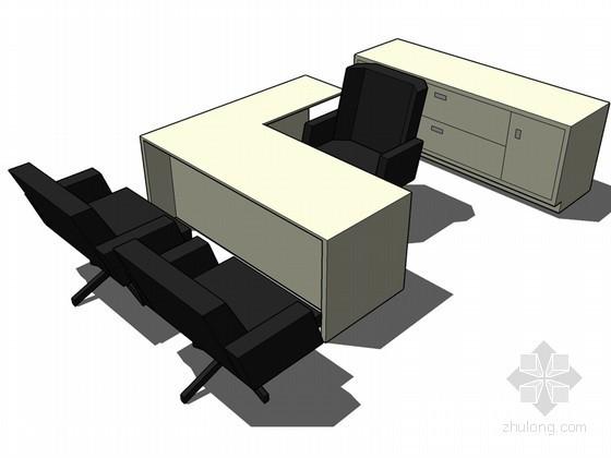 办公桌椅SketchUp模型下载