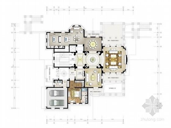 [宁波]浪漫情怀洛可可风格概念双层联排别墅装修设计方案