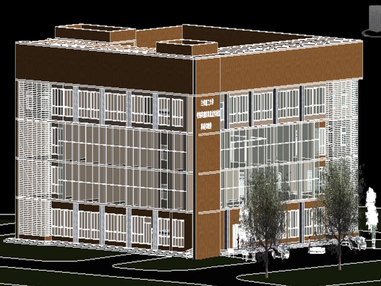 建筑45°模型图