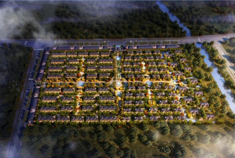 [江西]新中式风格皇家园林布局住宅建筑方案文本(含多套方案)