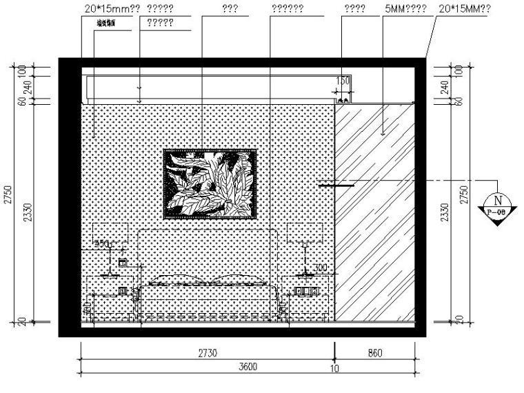 [深圳]现代简约个性时尚样板房室内设计施工图(含实景图)-[深圳]现代简约时尚奢华样板房室内设计立面图