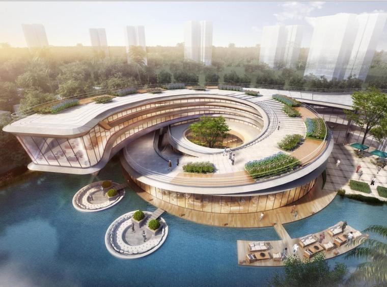 [广东]中山翠景启动示范区+商业建筑模型设计(2018年)