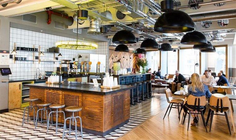 咖啡厅风格的联合办公空间-10