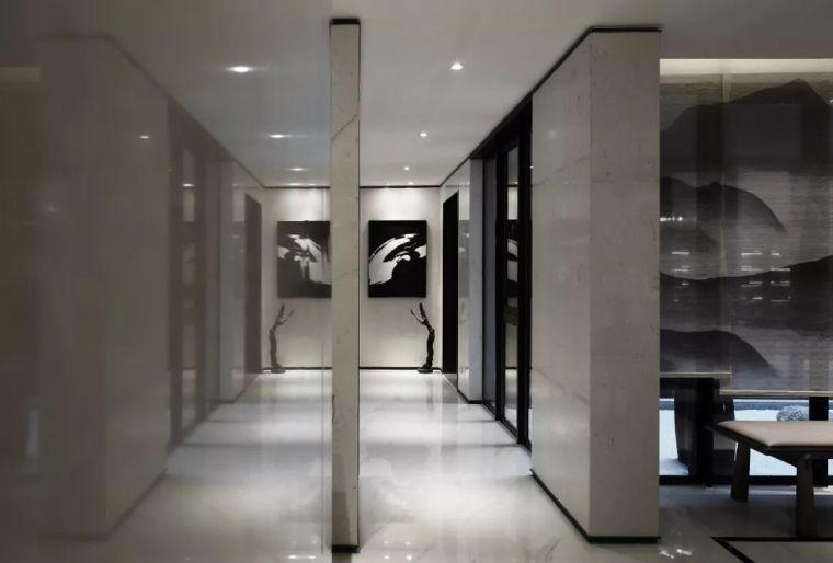 质朴材质也能构建空间气质,顶级别墅样板间设计_10