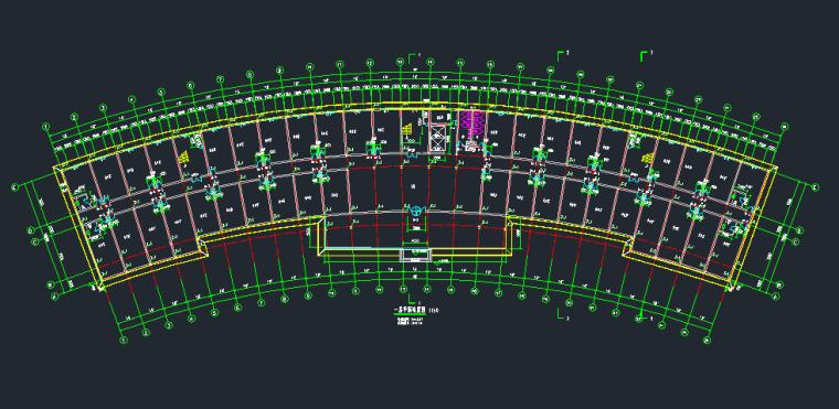 10层扇形办公室钢框架建筑结构施工图_5