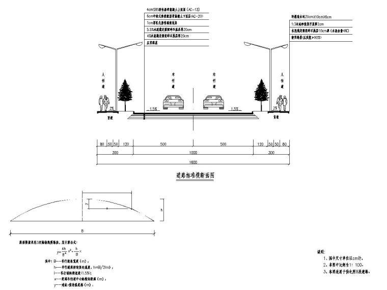市政道路路面改造及新建道路工程全套施工图设计124张
