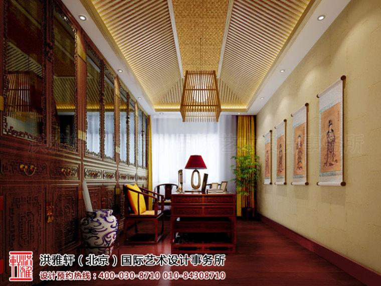 古典的泊莲禅寺寺院中式装修效果图案例_4