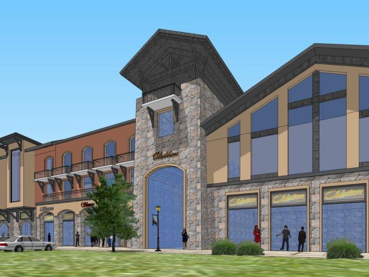 建筑商业模型新古典风格设计(su模型)