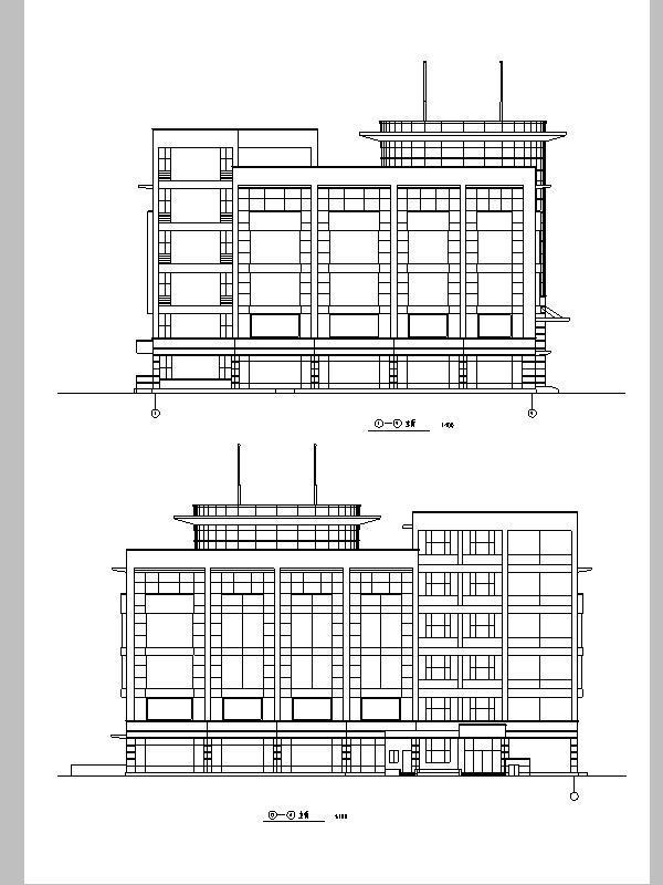岳堤超市商业建筑设计方案施工图CAD