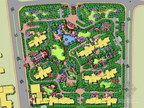 [武汉]高档生态滨水住宅区景观规划设计方案
