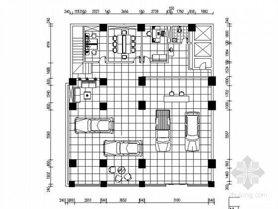 [原创]现代简约汽车专卖店室内施工图(含效果图)