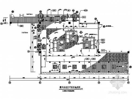 酒店露天休息区施工图