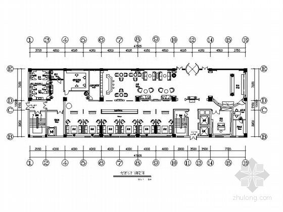[湖南]益阳奢华四星级商务酒店装修CAD施工图
