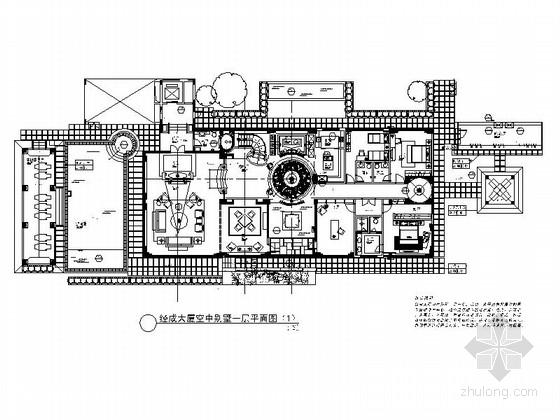 [深圳]现代高端空中别墅室内施工图(含效果图)