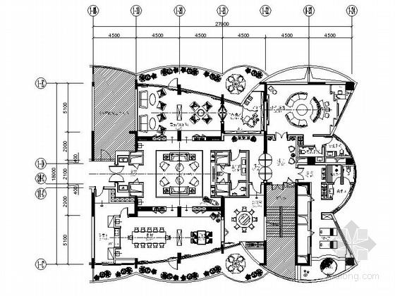 [佛山]国际五星级涉外商务酒店奢华会所装修施工图