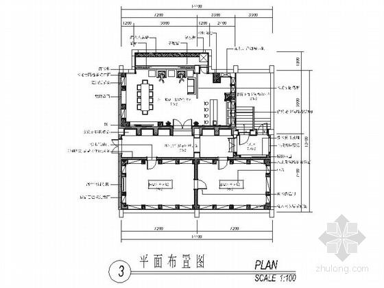 [上海]知名企业现代风格酒窖室内装修施工图(含效果)