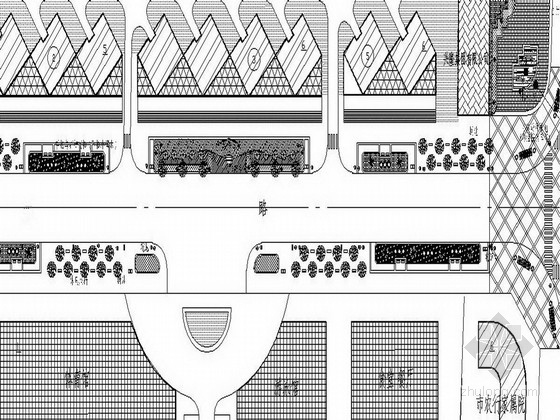[洛阳]城市道路景观环境艺术设计施工图(附方案文本)