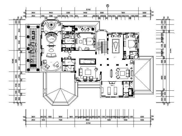 [合肥]精装豪华时尚会所室内设计装修施工图(含实景图)