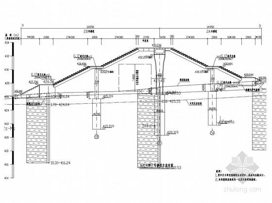 [重庆]甲院设计城市人行天桥工程全套施工图81张(结构 排水 电气)
