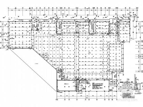 大型生活广场给排水施工图纸(虹吸雨水)
