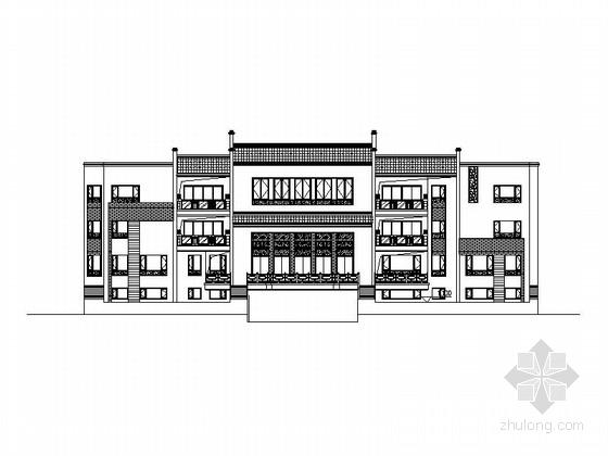 [福建]中式风格四合院建筑方案(含效果图)